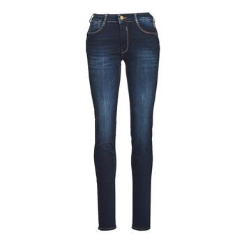 Textiel Dames Skinny jeans Le Temps des Cerises PULP HIGH NAPLES Blauw / Zwart