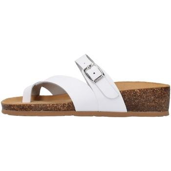 Schoenen Dames Leren slippers Bionatura 12A456 WHITE