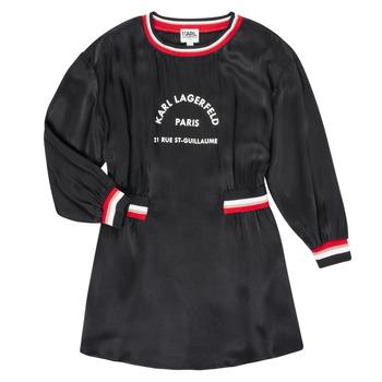 Textiel Meisjes Korte jurken Karl Lagerfeld RUBIS Zwart