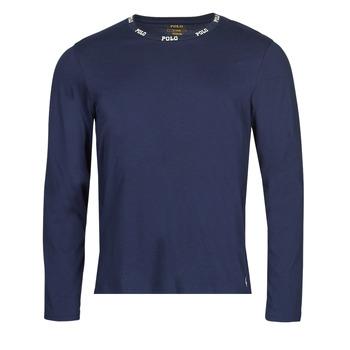Textiel Heren T-shirts met lange mouwen Polo Ralph Lauren CREEW SLEEP TOP Marine