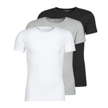 Textiel Heren T-shirts korte mouwen Tommy Hilfiger STRETCH TEE X3 Wit / Grijs / Zwart