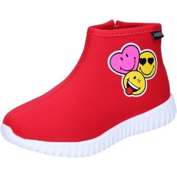 Schoenen Meisjes Enkellaarzen Smiley Enkel Laarzen BJ990 Rood
