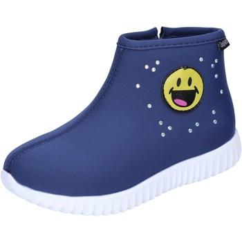 Schoenen Meisjes Enkellaarzen Smiley Enkel Laarzen BJ991 Blauw