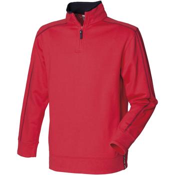 Textiel Heren Fleece Front Row FR802 Rood/Zwaar