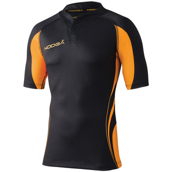Textiel Heren T-shirts korte mouwen Kooga KG105 Zwart / Goud