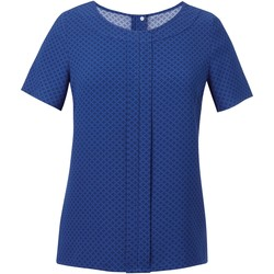 Textiel Dames Tops / Blousjes Brook Taverner Crepe De Chine Royal Blue/Marine