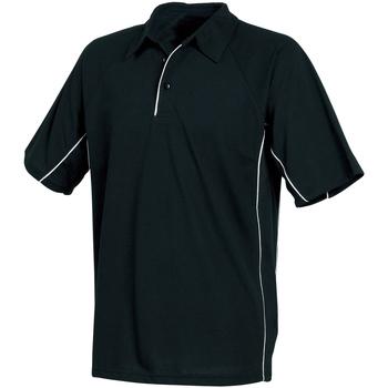 Textiel Heren Polo's korte mouwen Tombo Teamsport TL065 Zwart/Zwart/Witte bies