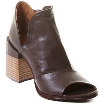 Schoenen Dames Enkellaarzen Rebecca White T0504 |Rebecca White| D??msk?? kotn??kov?? boty z telec?? k??e v k??vo