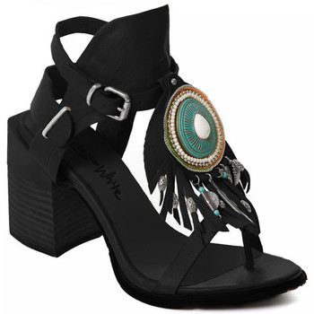 Schoenen Dames pumps Rebecca White T0509 |Rebecca White| D??msk?? sand??ly na vysok??m podpatku z ?ern??
