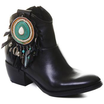 Schoenen Dames Enkellaarzen Rebecca White T0605 |Rebecca White| D??msk?? ?ern?? ko?en?? kotn??kov?? boty s bloko