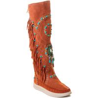 Schoenen Dames Laarzen Rebecca White T6012 Rood