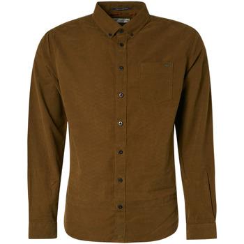 Textiel Heren Overhemden lange mouwen No Excess 97410809 Bruin