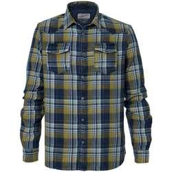 Textiel Heren Overhemden lange mouwen Petrol Industries M-3000-SIL408 Geel