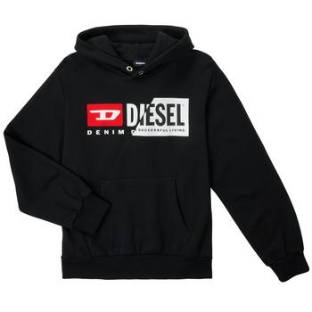 Textiel Kinderen Sweaters / Sweatshirts Diesel SGIRKHOODCUTYX OVER Zwart