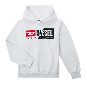 Textiel Kinderen Sweaters / Sweatshirts Diesel SGIRKHOODCUTYX OVER Wit