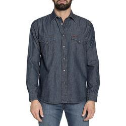 Textiel Heren Overhemden lange mouwen Carrera - 205-1005A Blauw