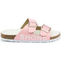 Schoenen Meisjes Leren slippers Shone - 026797 Roze