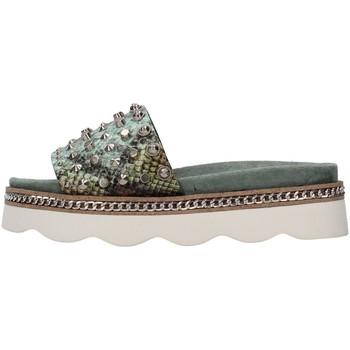 Schoenen Dames Leren slippers Alma Blue V21BL7103 GREEN