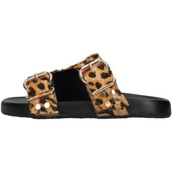 Schoenen Dames Leren slippers Café Noir C1FF1410 BROWN