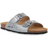 Schoenen Dames Leren slippers Grunland ARGENTO 70 SARA Grigio