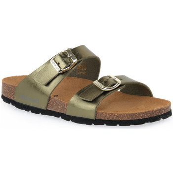 Schoenen Dames Leren slippers Grunland OLIVA 40SARA Verde
