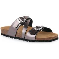 Schoenen Dames Leren slippers Grunland ANTRACIRTE 40 SARA Grigio