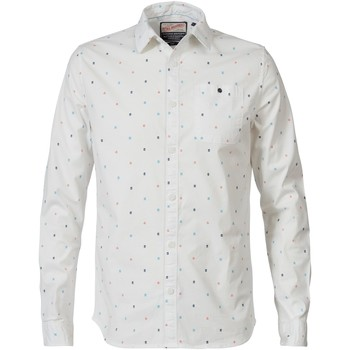 Textiel Heren Overhemden lange mouwen Petrol Industries Overhemd - 0006 Chalk White Wit