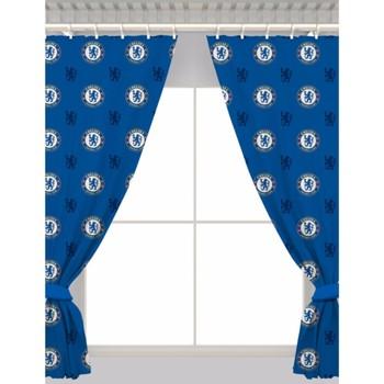 Wonen Gordijnen, jaloezieën Chelsea Fc 168 x 137 cm Blauw