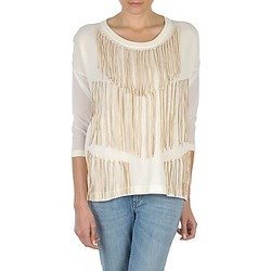 Textiel Dames T-shirts met lange mouwen Eleven Paris ANGIE Wit