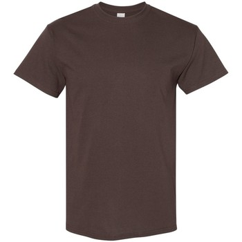 Textiel Heren T-shirts korte mouwen Gildan 5000 Donkere chocolade