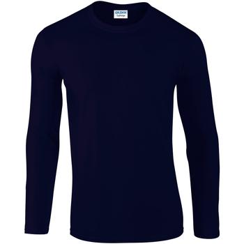 Textiel Heren T-shirts met lange mouwen Gildan 64400 Marine