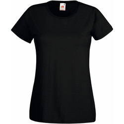 Textiel Dames T-shirts korte mouwen Fruit Of The Loom 61372 Zwart