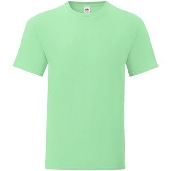 Textiel Heren T-shirts korte mouwen Fruit Of The Loom 61430 Neo Munt