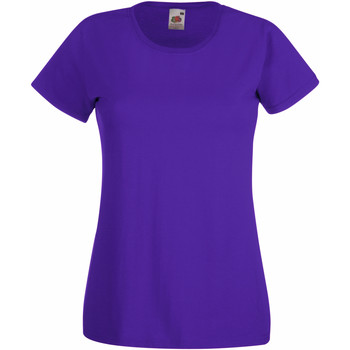 Textiel Dames T-shirts korte mouwen Fruit Of The Loom 61372 Paars