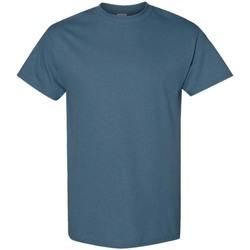 Textiel Heren T-shirts korte mouwen Gildan 5000 Indigoblauw