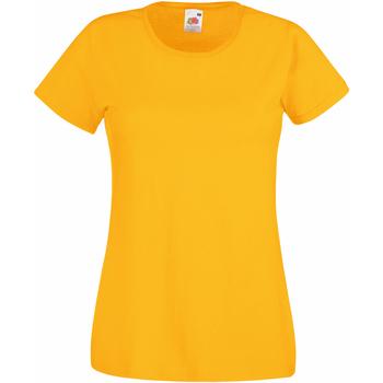 Textiel Dames T-shirts korte mouwen Fruit Of The Loom 61372 Zonnebloem