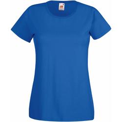 Textiel Dames T-shirts korte mouwen Fruit Of The Loom 61372 Koninklijk