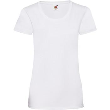 Textiel Dames T-shirts korte mouwen Fruit Of The Loom 61372 Wit