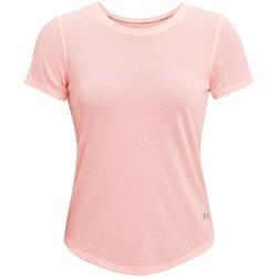 Textiel Dames T-shirts korte mouwen Under Armour Streaker Run Short Sleeve Rose