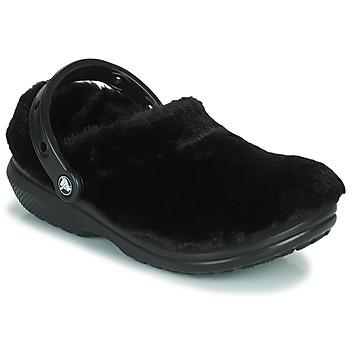 Crocs Clogs Classic Fur Sure Zwart online kopen
