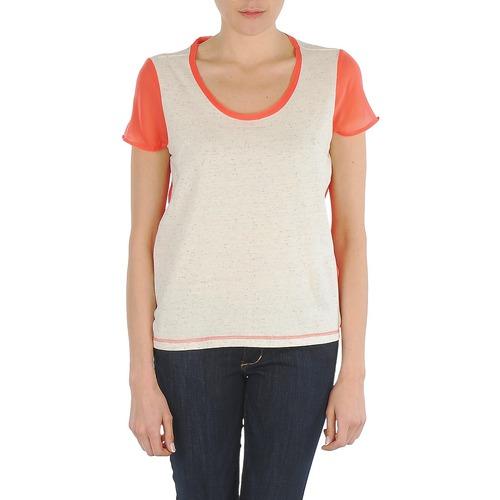 Textiel Dames T-shirts korte mouwen Eleven Paris EDMEE Beige / Oranje