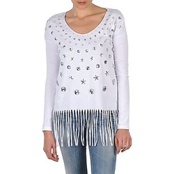 Textiel Dames T-shirts met lange mouwen Manoush TUNIQUE LIANE Wit
