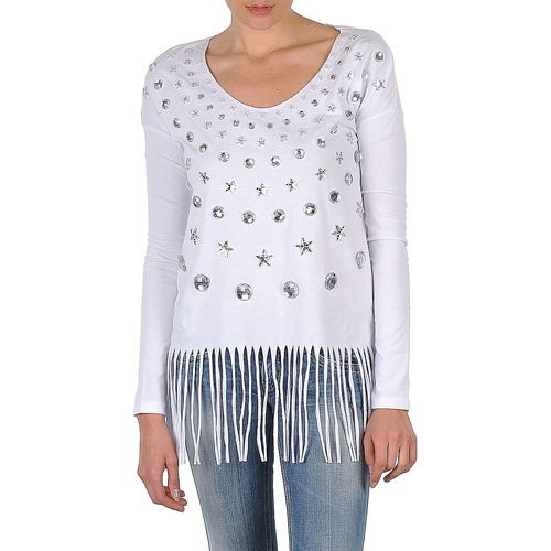 Textiel Dames T-shirts met lange mouwen Manoush TUNIQUE LIANE Wit