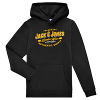 Textiel Jongens Sweaters / Sweatshirts Jack & Jones JJELOGO SWEAT HOOD Zwart