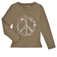 Textiel Meisjes T-shirts met lange mouwen Name it NKFKALINDA LS TOP Taupe