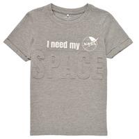 Textiel Jongens T-shirts korte mouwen Name it NKMNASA HAMPUS SS TOP NAS Grijs