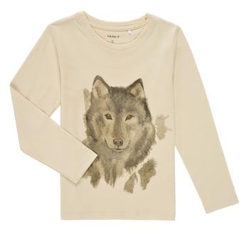 Textiel Jongens T-shirts met lange mouwen Name it NMMKEVIN LS TOP Beige