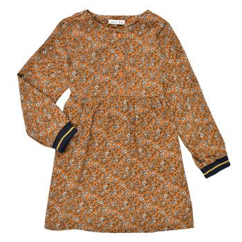 Textiel Meisjes Korte jurken Name it NKFKRINFRA LS DRESS Oranje