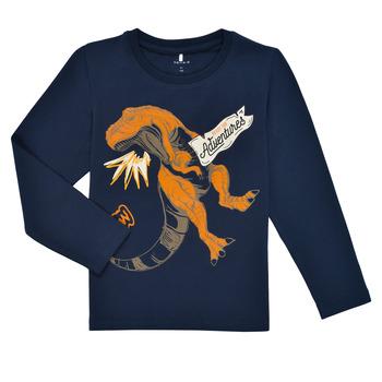 Textiel Jongens T-shirts met lange mouwen Name it NMMLUKASO LS TOP Marine