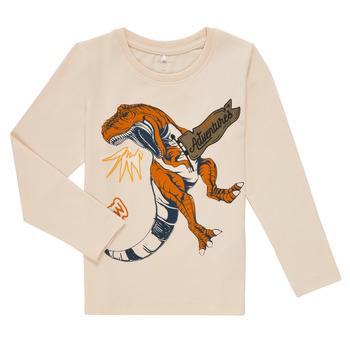 Textiel Jongens T-shirts met lange mouwen Name it NMMLUKASO LS TOP Wit